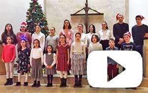 children at christmas concert